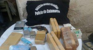 secuestro droga catamarca, policia de catamarca