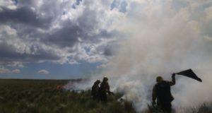 brigada anti incendio, cerro ancasti