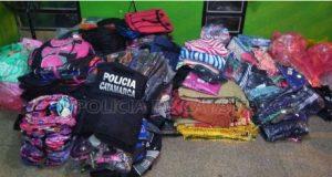 Policia de Catamarca, Ropa incautada, secuestro de ropa