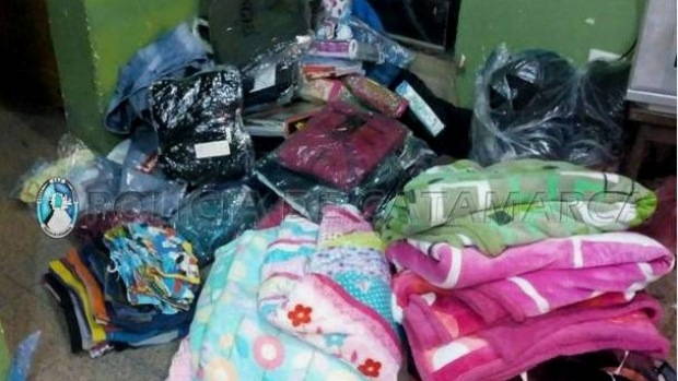 Secuestro mercaderia ilegal, policia de Catamarca