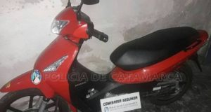 Policia de Catamarca, secuestro de moto