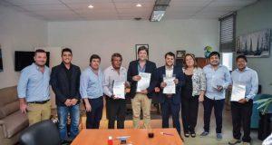 Eduardo Menecier, Carlos Martinez, Senador Mario Carrizo