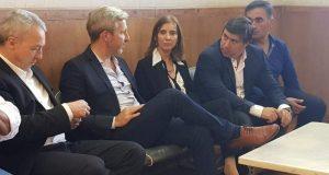 Rogelio Frigerio, Ruben Manzi, Enrique cesarini